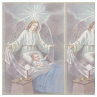 Guardian Angel with Child Fabric
