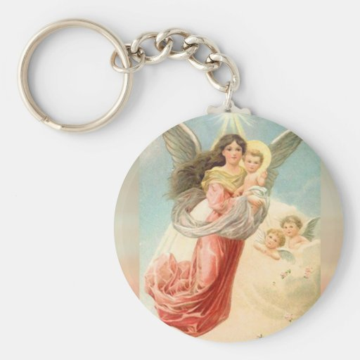 Guardian Angel with Children Key Chains