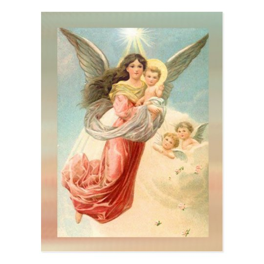 Guardian Angel with Children Postcard