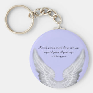 Guardian Angels Basic Round Button Key Ring