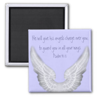 Guardian Angels Square Magnet