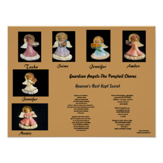 GUARDIAN ANGELS-THE PONYTAIL CHORUS POSTER