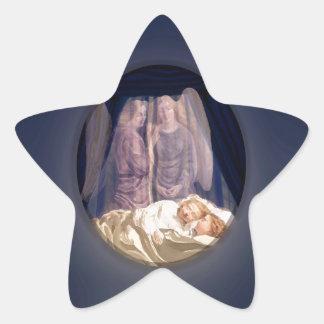 Guardian Angels Watching Children Star Sticker