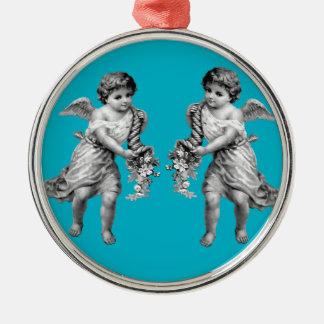 Guardian Angels with Cornucopia Christmas Ornament
