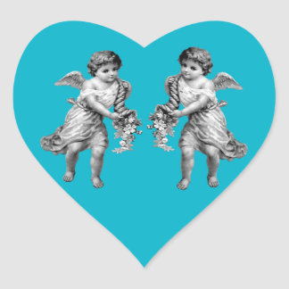 Guardian Angels with Cornucopia Heart Sticker