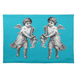 Guardian Angels with Cornucopia Placemat