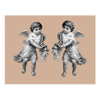Guardian Angels with Cornucopia Postcard