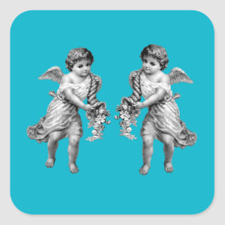 Guardian Angels with Cornucopia Square Sticker