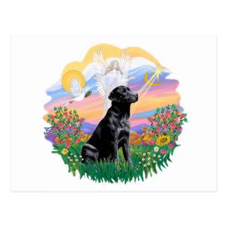 Guardian - Black Labrador Retriever Postcard