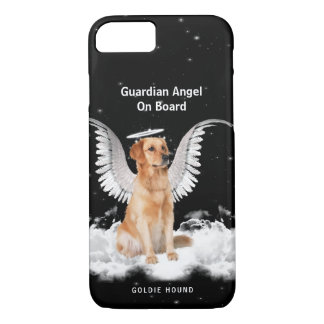 Guardian Golden Retriever with Your Dog's Name iPhone 7 Case