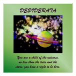 Guardian of the Galaxy DESIDERATA Poster