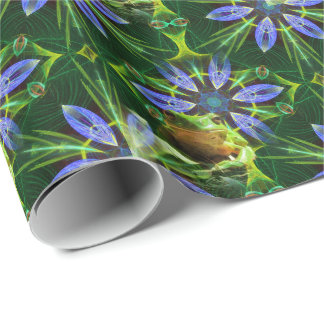 Guardian of the pond tiled paper wrapping paper