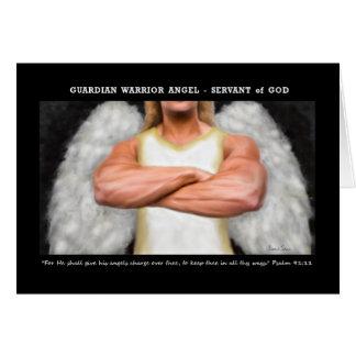 Guardian Warrior Angel Notecard Note Card