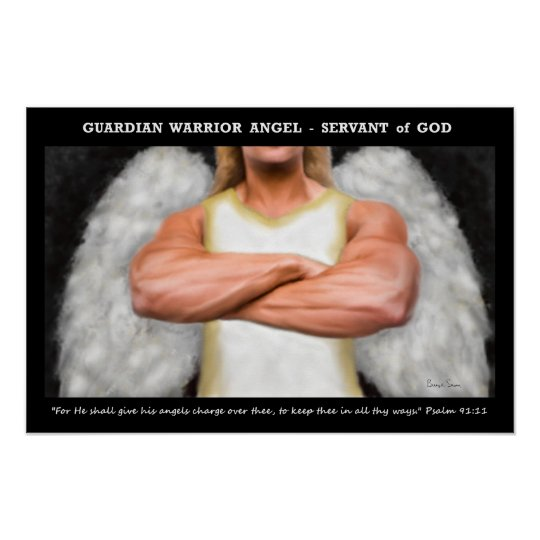 Guardian Warrior Angel Poster