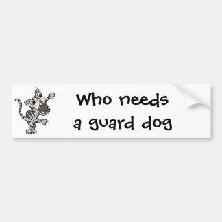 Guardian Watch Cat Cartoon Bumper Sticker