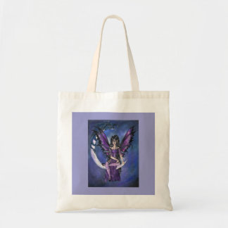 """Guardians"" gothic fairy dragon art TOTE BAG"