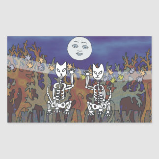 Guardians of a Haunted Forest Skeleton Mascots Sticker