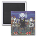 Guardians of a Haunted Forest Square Magnet