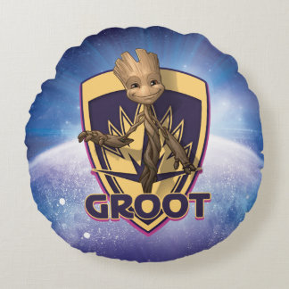 Guardians of the Galaxy | Baby Groot Crest Round Cushion