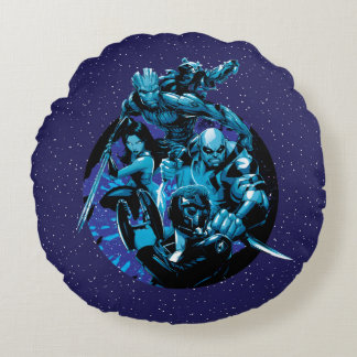 Guardians of the Galaxy | Blue Crew Graphic Round Cushion
