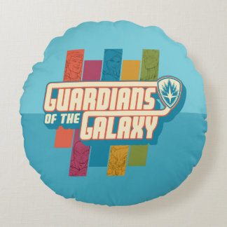 Guardians of the Galaxy | Crew Color Bar Logo Round Cushion