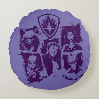 Guardians of the Galaxy | Crew Paint Grid Round Cushion