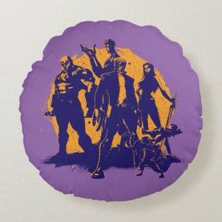 Guardians of the Galaxy | Crew Paint Silhouette Round Cushion