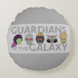 Guardians of the Galaxy | Crew Rough Sketch Round Cushion