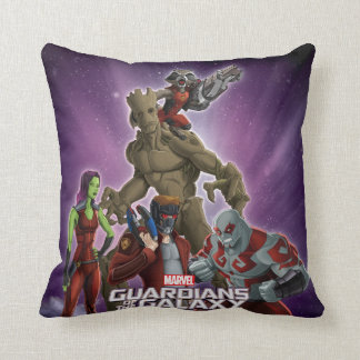 Guardians of the Galaxy | Group In Space Cushion