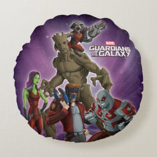 Guardians of the Galaxy | Group In Space Round Cushion
