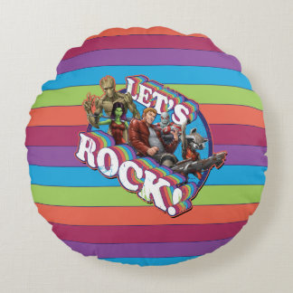 Guardians of the Galaxy | Let's Rock! Round Cushion