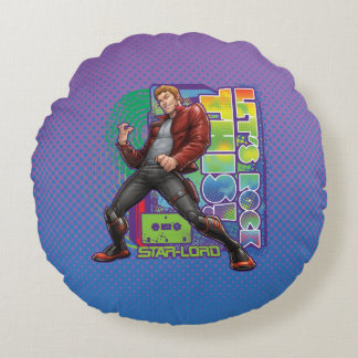 Guardians of the Galaxy | Let's Rock This! Round Cushion