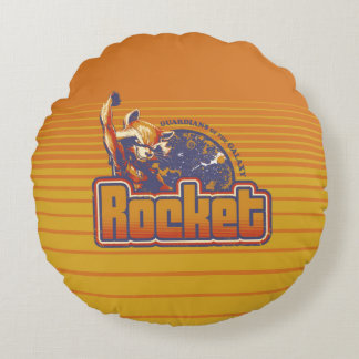Guardians of the Galaxy | Rocket Character Badge Round Cushion