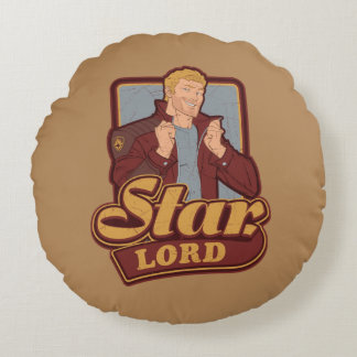 Guardians of the Galaxy | Star-Lord Cartoon Icon Round Cushion
