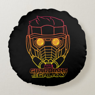 Guardians of the Galaxy | Star-Lord Neon Outline Round Cushion