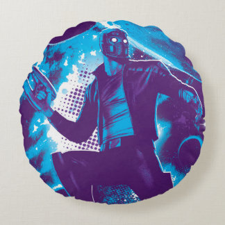 Guardians of the Galaxy | Star-Lord On Planet Round Cushion