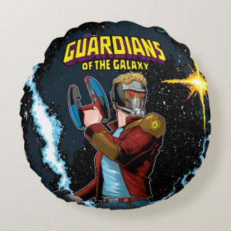 Guardians of the Galaxy | Star-Lord Retro Comic Round Cushion