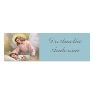 Guarding angel of children,vintage,reproduction pack of skinny business cards