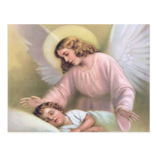 Guarding angel of children,vintage,reproduction, postcard
