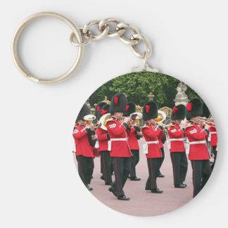 Guards Band,Buckingham Palace, London, England Basic Round Button Key Ring