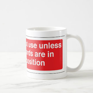 guards in position coffee mug