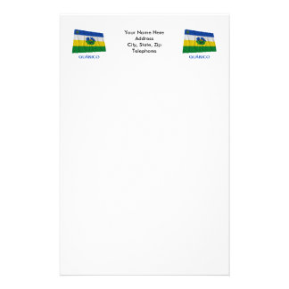 Guárico Waving Flag with Name Stationery Paper