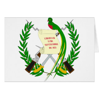 Guatemala  Coat of arms GT Card