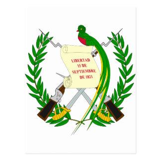 Guatemala  Coat of arms GT Postcard
