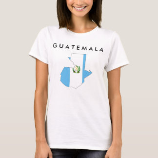 guatemala country flag map shape silhouette symbol T-Shirt