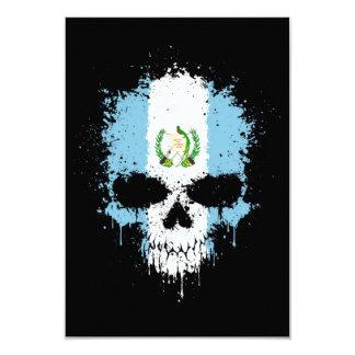 Guatemala Dripping Splatter Skull Invitation