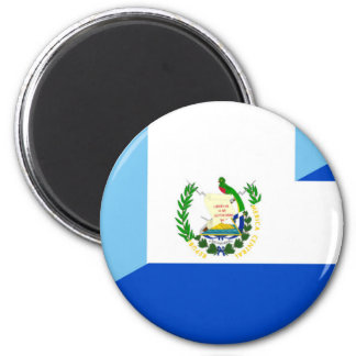 guatemala el salvador half flag country symbol magnet