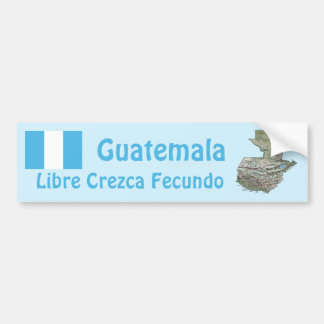Guatemala Flag and Map Bumper Sticker