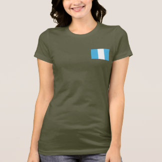 Guatemala Flag and Map dk T-Shirt
