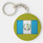 guatemala flag basic round button key ring